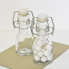 50 DIY Blank Mini Glass Swing Top Bottle Birthday Bridal Wedding Favor