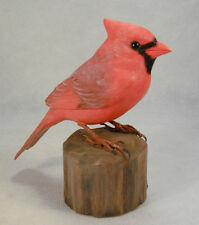 "5"" Northern Cardinal Original Wood Carving"