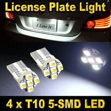 4x T10 5-SMD White License Plate Tag Light Bulbs 168 194 906 912 921 2825 2827