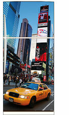Sticker frigo électroménager déco cuisine New York taxi 70x170cm réf 531