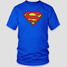 Superman, Classic Logo, T-Shirt,Cotton Blend( Adult's & Kids Size: S,M,L, XL)