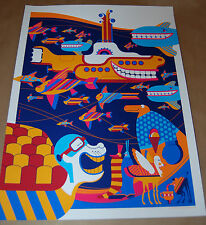 Tom Whalen VARIANT Underseas Poster Numbered of 135 Yellow Submarine box set