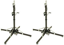 One Pair of Global Truss ST157 Crank Light Stands with Outriggers