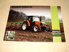 Prospectus Tracteur RENAULT CERES 95  prospekt brohcure traktor tractor trattore