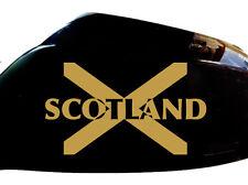 Scotland Scottish Flag Car Sticker Wing Mirror Styling Decals (Set of 2), Gold