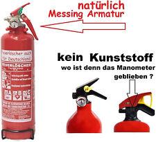 1 kg Autofeuerlöscher Pulverlöscher + Manometer + Halterung ABC Feuerlöscher