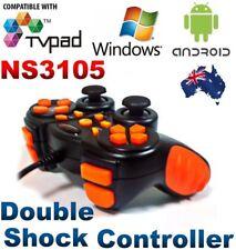 DeTech NS3105 Wired USB Game Controller Gamepad Joystick Windows PC Orange