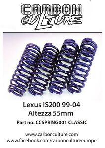 LEXUS IS200 99-04 55MM CLASSIC LOWERING SPRINGS ALTEZZA CARBON CULTURE