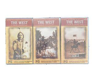 KEN BURNS PRESENTS THE WEST BOX SET - PAL VHS - RARE 1 Open 2&3 Sealed