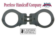 NEW Peerless Hinged Handcuff 802 Black Oxide Finish w/ 2 Keys - Police