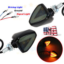 2x Universal Motorcycle Bike Amber LED Turn Signal Indicator Blinker Light Lamp
