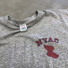 VINTAGE 70s 80s NEW YORK ATHLETIC CLUB NYAC CHAMPION BRAND T Shirt SZ Medium