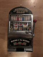 Large Scale Jumbo Slot Machine Bank Game Casino Sound Flashing Jackpot Light