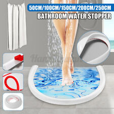 50-250CM Bathroom Water Stopper Flood Barrier Rubber Dam Silicone Water Blocker