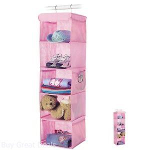 Hanging Shoe Racks Kids Collection Pink Fashion Toy Box Closet Organizers Shelf