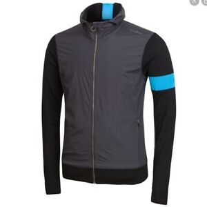 RAPHA team sky merino hooded cycling top wind front black medium long sleeve
