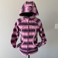 Women's Lululemon  Scuba Hoodie Jacket Striped Size 8