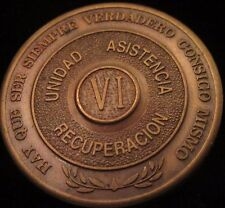 Alcoholicos Anonimos 6 year Bronze Medallion Spanish  AA Alcoholics Anonymous