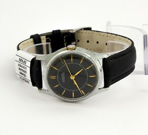 RARE Raketa 2609A PChZ USSR Soviet men's wristwatch, 21 jewels, black dial