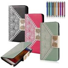 Fashion PU Leather Wallet ID Card Book Flip Phone Box Case Stand Cover for LG G2