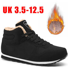 Mens Womens Winter Warm Trainers Snow Boots Lined High Top Sport Casual Shoes
