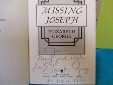 Elizabeth George MISSING JOSEPH SIGNED American 1st ed hardcover Bantam 1993