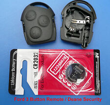 Ford Mondeo Fiesta Focus Remote Fob Case with New Battery Clips and Battery