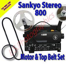 SANKYO 800 STEREO 8mm CINE PROIETTORE Cintura Set di 2 (Motore Principale & pulegge superiore)