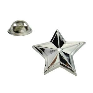 Rhodium Plated Star Lapel Pin Badge