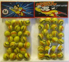 2 Bags Of Mighty Mouse Cartoon Promo Marbles