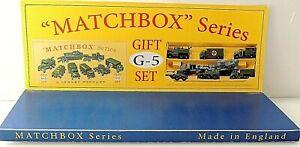 Matchbox Lesney Product  Display Military Gift Set G-5 style Box **