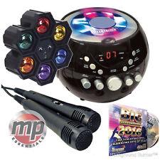 CDG Boombox Portátil Máquina De Karaoke con bluetooth, 2017 CD y 6 vías de Luz Disco