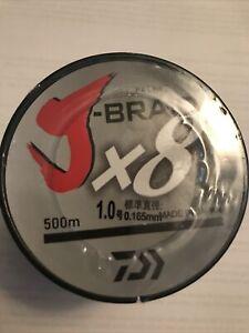Daiwa j-braid x8 braided fishing line 500m / 546 YARDS! New 22lb White