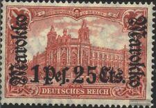 Dt. Post Marokko 55I A geprüft mit Falz 1911 Aufdruckausgabe
