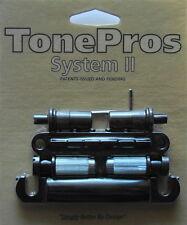 LPBM02-B TonePros Metric Bridge/Tailpiece Set, Black Finish