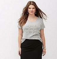 Lane Bryant Faux Pearl Hashtag Graphic Tee Top Plus Size 18/20 22/24 26/28 NWT