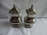 Vintage Grenadier Victorian Style Silver Plated Salt & Pepper Height 11 cm