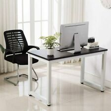 Black Wood Computer Table Study Desk Office Furniture PC Laptop Workstation Home