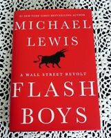 Flash Boys by Michael Lewis SIGNED Stated 1st Edition Lair's Poker Hardcover