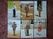 6 Card Set No 30 Military Postcards THE IRISH GUARDS. Mint condition.