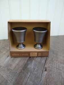 Allen + Roth 2 Finials Brushed Pewter Finish #0773157