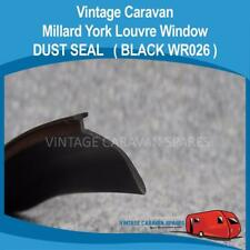 Millard York Louvre Window DUST SEAL Frame Rubber  ( BLACK WR026 )
