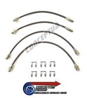 Stainless Braided Brake 4 Lines Hose Set Carbon - For R33 GTS-T Skyline RB25DET