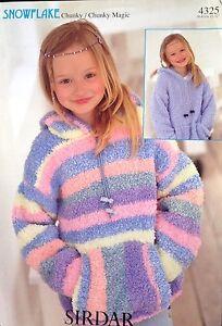 "Snowflake Chunky Magic knitting pattern Girls jumper Size 22/32""............"