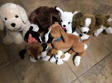 Lot Of 6 Nintendo Nintendogs Labrador/boxer/beagle   Plush Dog