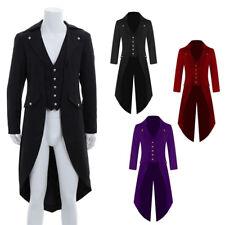 Men's Vintage Steampunk Tailcoat Jacket Gothic Victorian Frock Coat Cosplay Prop