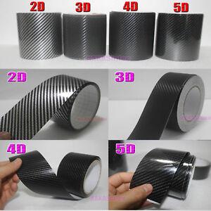 Beauty Tape 2D 3D 4D 5D Glossy Texture Carbon Fiber Vinyl Wrap Sticker Black AB