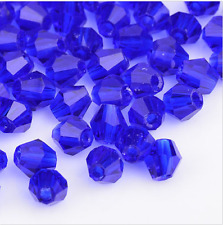 swarovski Crystal 4mm 5301# Bicone Beads Dark blue 500pcs