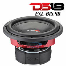 "DS18 EXL-B15.4D 15"" Car Subwoofer 3000W Max Dual 4 Ohm Competition 15 inch Sub"