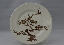 Fitz And Floyd Salad Plate Autumn Tree Brown On White Pattern Vintage
